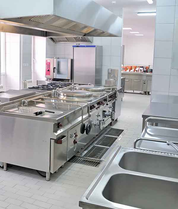 commercial kitchen plumbing and gas appliance fitting