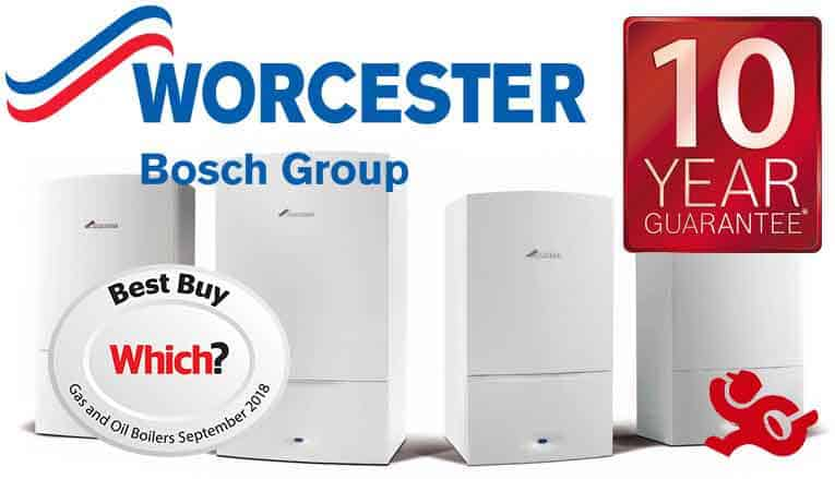 Worcester Bosch 10 year guarantee on Gas Boilers with authorised installers
