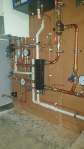 commercial boiler installation in Glasgow housing complex