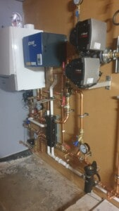 commercial boiler installation at sheltered housing complex